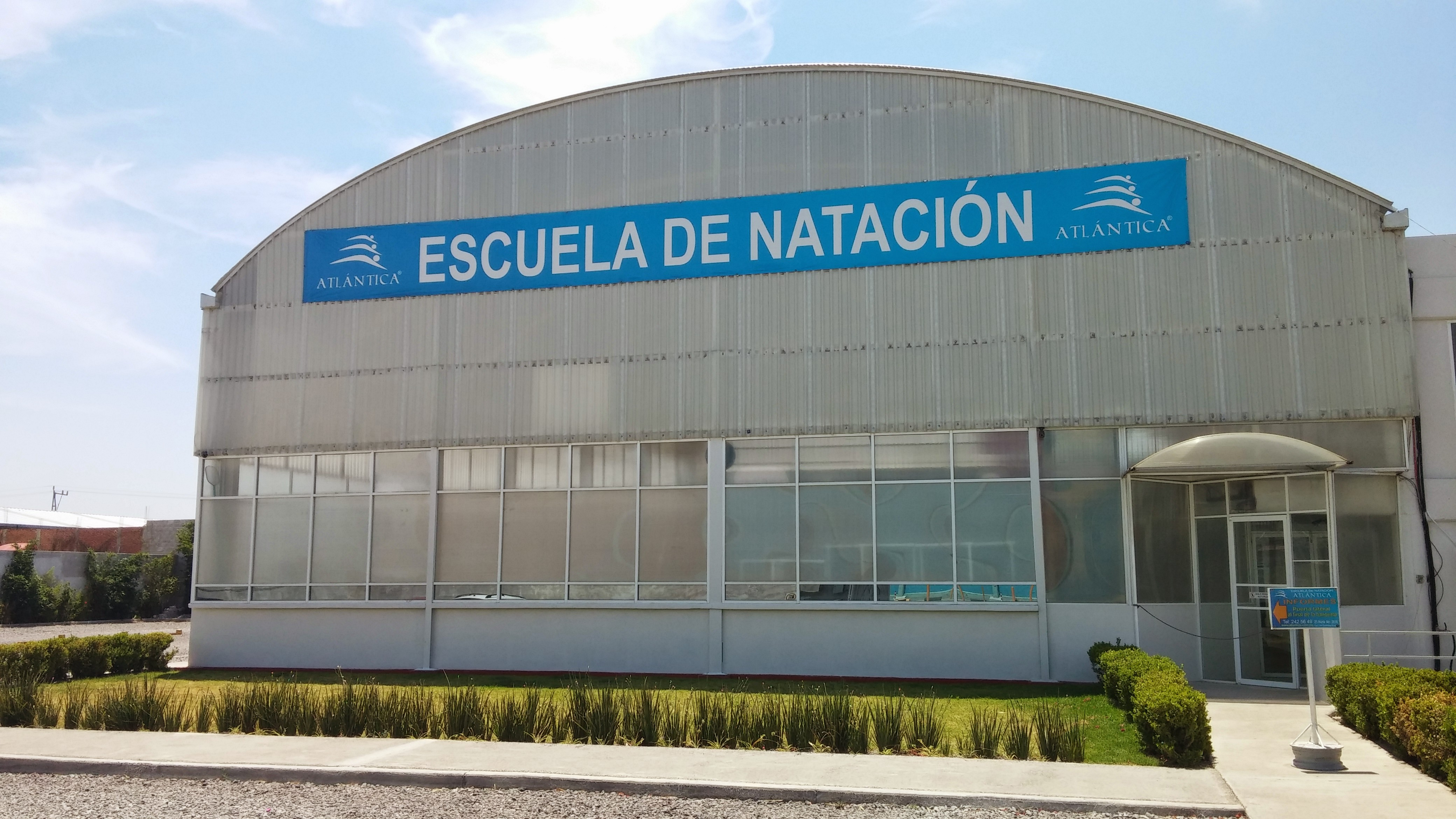 Atl ntica escuela de nataci n puebla for Planos de piletas de natacion